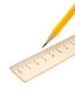 Régua e lápis Imagem de Stock
