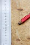 Régua e lápis. Fotos de Stock Royalty Free