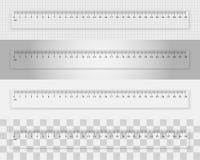 Régua plástica transparente 30 centímetros ilustração do vetor