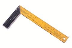 Régua quadrada do triângulo isolada no fundo branco Foto de Stock