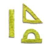 Réguas amarelas da massa de modelar Imagens de Stock Royalty Free