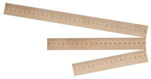 Réguas de madeira fotografia de stock