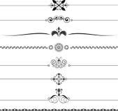 Réguas decorativas ilustração stock