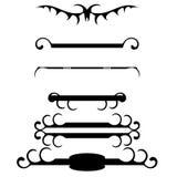 Réguas decorativas do ornamento ilustração royalty free