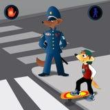 Réguas do tráfego ilustração royalty free