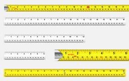 Réguas e fitas métricas Foto de Stock Royalty Free