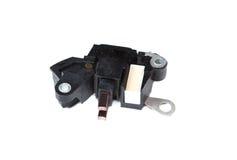 Régulateur de tension automatique de voiture d'isolement sur le fond blanc images stock