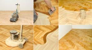 Rénovation à la maison, parquet Image stock