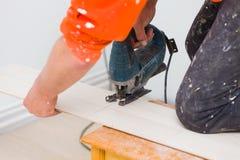 Rénovation à la maison - plancher photos stock