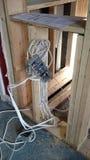 Rénovation électrique Images libres de droits