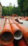 Rénovation d'un Gorodotsjka Stree Photo stock