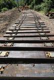Rénovation de chemin de fer images libres de droits