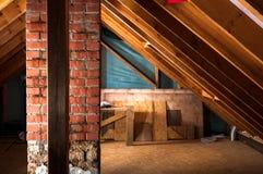 Rénovation de grenier photo libre de droits