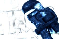 Rénovation de salle de bains images stock