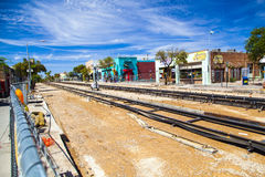 Rénovation de tramway du centre Image libre de droits