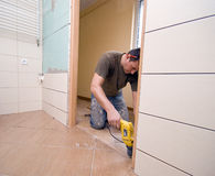 Rénovation de trappe de salle de bains image libre de droits
