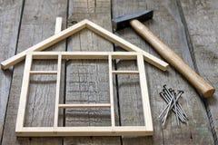 Rénovation en bois de construction de maison Photo libre de droits