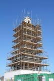 Rénovation historique de tour d'horloge Photographie stock libre de droits