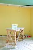 Rénovation intérieure à la maison photo libre de droits