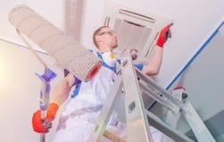 Rénovation intérieure de peinture images libres de droits