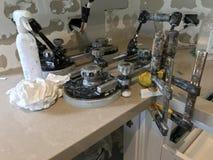 Rénovations étendues de haute qualité de cuisine photo stock