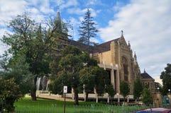 Rénovez la cathédrale du ` s de St Mary à la rue de seigneur de Perth à Perth, Aust photographie stock