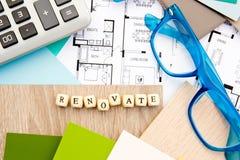 Rénovez - la conception à la maison photo libre de droits