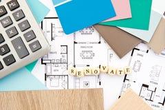 Rénovez - la conception à la maison images libres de droits