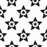 Répétant des étoiles dessinées à la main avec la brosse rugueuse Configuration sans joint Grunge, croquis, graffiti, aquarelle Image libre de droits