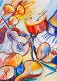 Répétition d'orchestre illustration libre de droits