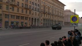 Répétition de défilé à la célébration de Victory Day à Moscou banque de vidéos