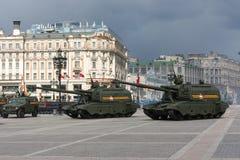 Répétition de défilé de la Russie Image stock