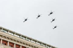 Répétition de défilé de la Russie Photographie stock