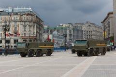 Répétition de défilé de la Russie Photographie stock libre de droits