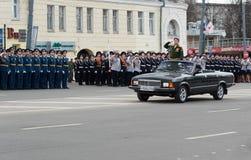 Répétition de défilé militaire Photos stock