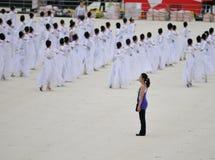 Répétition de danse de large échelle Photographie stock libre de droits