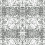 Répétition de Grey Knitted Plaid Vector Pattern Photographie stock libre de droits