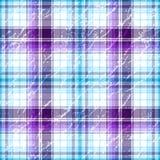 Répétition de la configuration checkered grunge violet-blanche Photos libres de droits