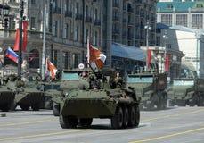 Répétition pour la célébration de Victory Parade à Moscou Image libre de droits