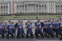 Répétition pour le défilé roumain de jour national Photos libres de droits