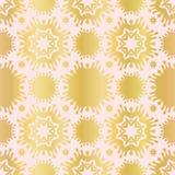 Répétition sans couture Luxe de vecteur de Rose Gold Star Damask Pattern dessinée illustration de vecteur