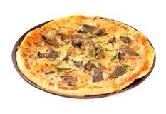répand la pizza photo stock