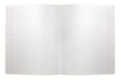 Répandez le papier de note rayé sans joint ouvert de double feuille Images libres de droits