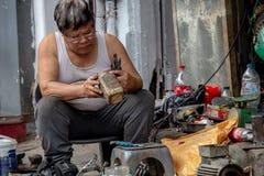 Réparateur local Hanoï Images libres de droits