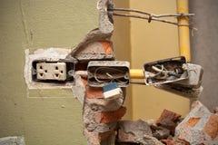 Réparation à la maison électrique Photo stock