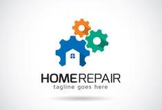 Réparation à la maison Logo Template Design Vector, emblème, concept de construction, symbole créatif, icône Images libres de droits