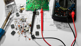 Réparation électronique photographie stock
