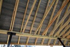Réparation d'entrepreneur de toit Construction en bois de toit Construction de Chambre photos libres de droits