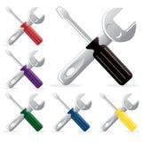 Réparation d'outil de paquet de vecteur Image stock