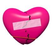 Réparation d'un coeur cassé Image stock